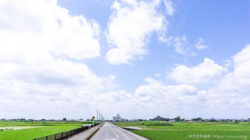 南瀬田和ロジスティクスセンターそばの農道